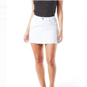 Levis Strauss Signature White Denim Mini Skirt